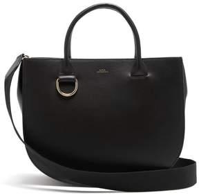 A.P.C. Marion Leather Shoulder Bag - Womens - Black