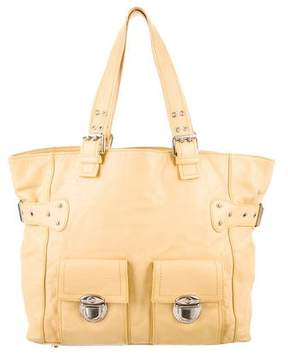 Marc Jacobs Leather Shoulder Bag - YELLOW - STYLE