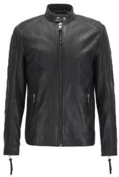BOSS Hugo Sheepskin Leather Jacket Jeepo 30R Black