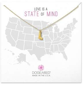 Dogeared 14K Gold Plated Sterling Silver Delaware Charm Necklace
