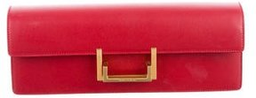 Saint Laurent Leather Lulu Clutch - RED - STYLE