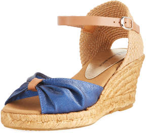 Neiman Marcus Tirana Canvas and Leather Espadrille