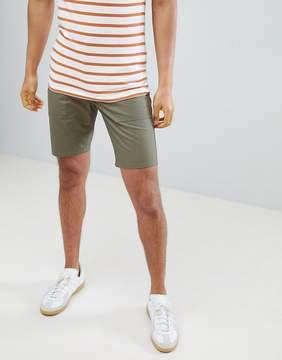 Farah Hawk Canvas Patch Pocket Shorts in Green