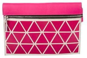 Victoria Beckham Leather Geometric Clutch