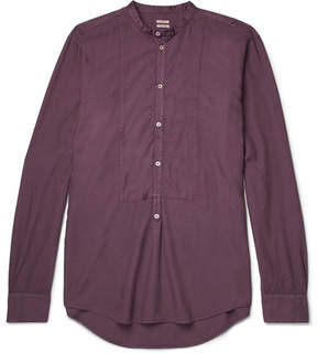 Massimo Alba Kos Grandad-Collar Modal And Cotton-Blend Twill Shirt