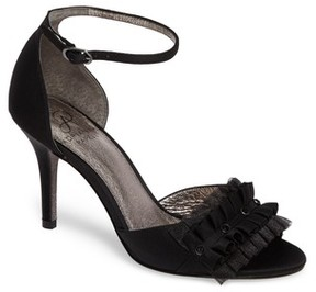 Adrianna Papell Women's Alcott Chiffon Ruffle Sandal