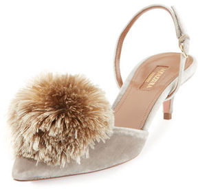 Aquazzura Powder Puff Pompom Pump