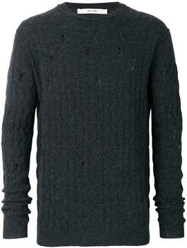 Damir Doma distressed cable-knit jumper