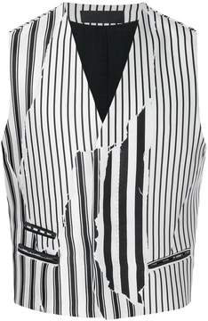 Haider Ackermann optical strip gilet