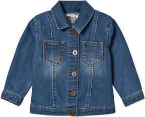Billieblush Blue Denim Emrbroidered Headdress Jacket