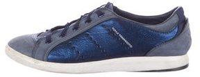 Y-3 Metallic Low-Top Sneakers