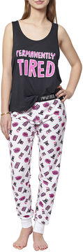 Asstd National Brand 2-pc. Pattern Pant Pajama Set-Juniors