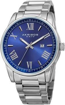 Akribos XXIV Date Japanese Quartz Movement Watch, 45mm