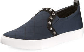 Donald J Pliner Selene Studded Stretch-Mesh Sneakers