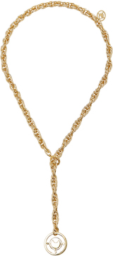 Fallon Prodigiam Gold-Tone Medallion Lariat Necklace