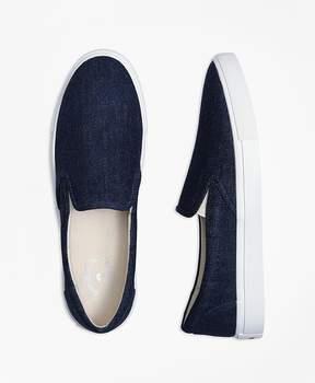 Brooks Brothers Denim Slip-On Sneakers