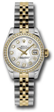 Rolex Lady Datejust Mother of Pearl Diamond Dial Automatic Watch