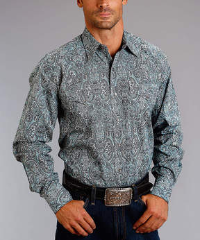 Stetson Blue Vintage West Paisley Button-Up - Men's Regular