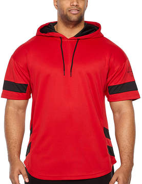 Rocawear Short Sleeve Mesh Hoodie-Big and Tall