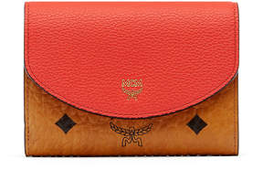MCM Three Fold Wallet In Visetos Leather Block