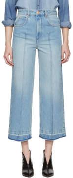 Etoile Isabel Marant Blue Cabrio Wide-Leg Jeans