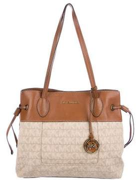 MICHAEL Michael Kors Leather-Trimmed Monogram Canvas Tote