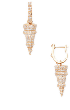 Artisan Women's Designer Spike Earring in Gold