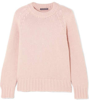 Alexander McQueen Oversized Cashmere And Wool-blend Sweater - Pastel pink