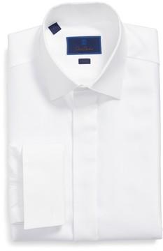 David Donahue Men's Trim Fit French Cuff Tuxedo Shirt