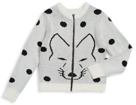 Jessica Simpson Girl's Polka Dot Sweater