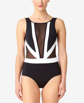 Anne Cole Hot Mesh Illusion One-Piece Swimsuit Women's Swimsuit