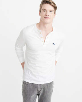 Abercrombie & Fitch Long-Sleeve Icon Henley