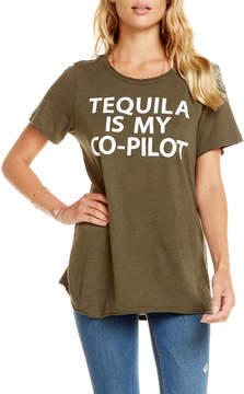 Chaser Tequila is My Co-Pilot Distressed Tee