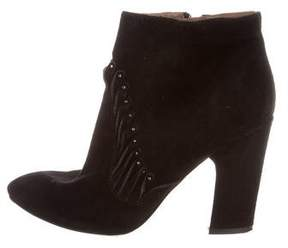 Sigerson Morrison Studded Suede Booties