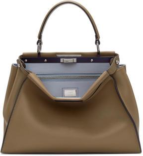 Fendi Tan Regular Peekaboo Bag
