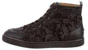 Christian Louboutin Camouflage High-Top Sneakers