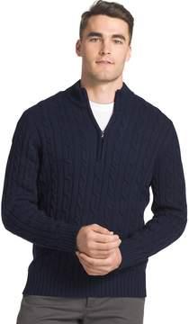 Izod Men's Regular-Fit Cable Knit Quarter-Zip Sweater