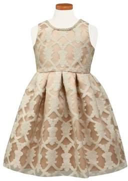 Sorbet Girl's Burnout Lace Party Dress