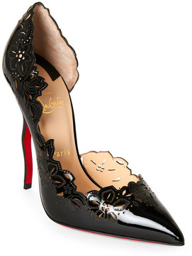 Christian Louboutin Beloved Laser-Cut Pointed Toe Pumps