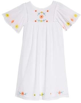 Tucker + Tate Embroidered Flutter Sleeve Dress