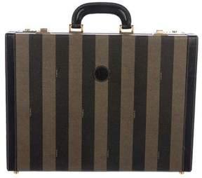 Fendi Vintage Pequin Briefcase