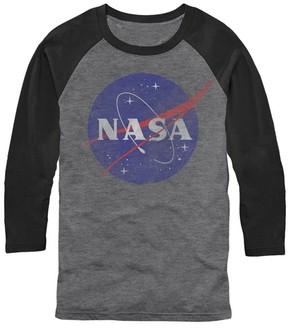 Fifth Sun NASA Gray & Black Logo Raglan Tee - Men