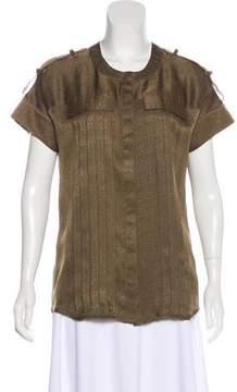 Matthew Williamson Silk Button-Up Top