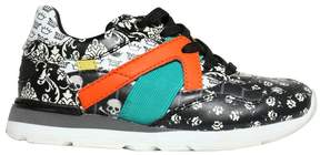 Dolce & Gabbana Floral Printed Leather Running Sneakers