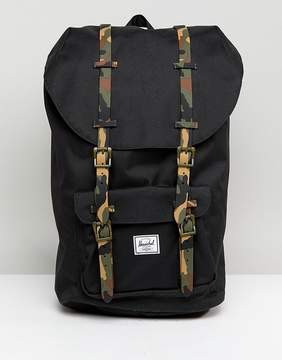 Herschel Little America Backpack with Camo Straps 25L