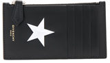 Givenchy S-Zip Coin Card Holder in Black.