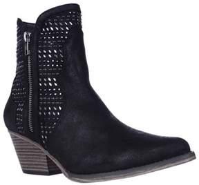Mia Joaquin Jewel Studded Western Ankle Booties, Black.