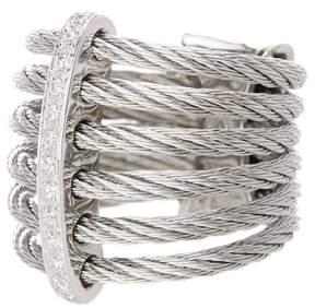 Alor 18K White Gold Diamond Detail Multi Strand Ring - 0.11 ctw