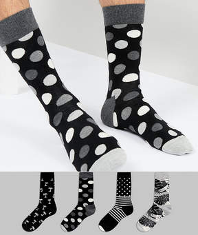 Happy Socks Gift Box 4 Pack Socks