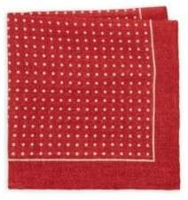 Isaia Dotted Silk Pocket Square
